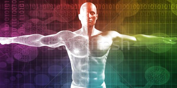 Onderzoek ontwikkeling lichaam wetenschap gezondheidszorg abstract Stockfoto © kentoh