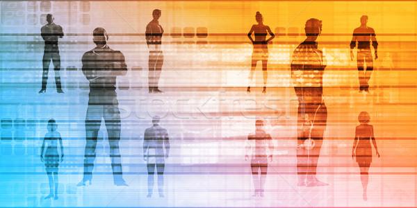 Leiderschap ontwikkeling effectief opleiding achtergrond werknemer Stockfoto © kentoh
