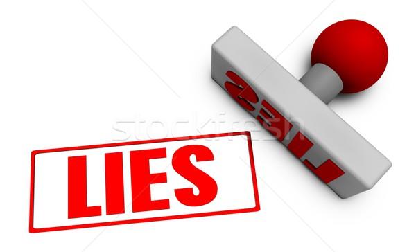Stock photo: Lies Stamp
