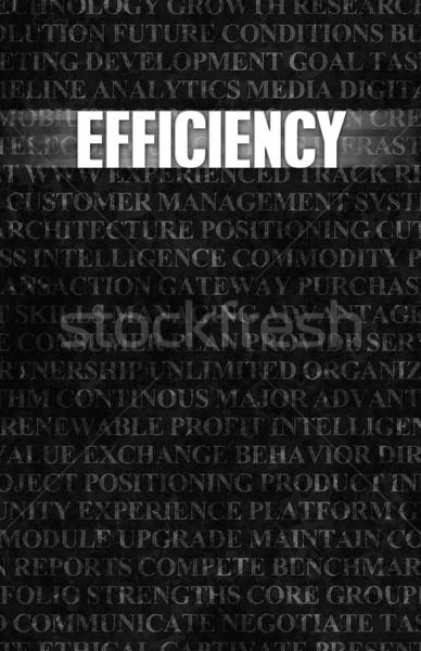 Eficiência negócio motivação stonewall parede fundo Foto stock © kentoh