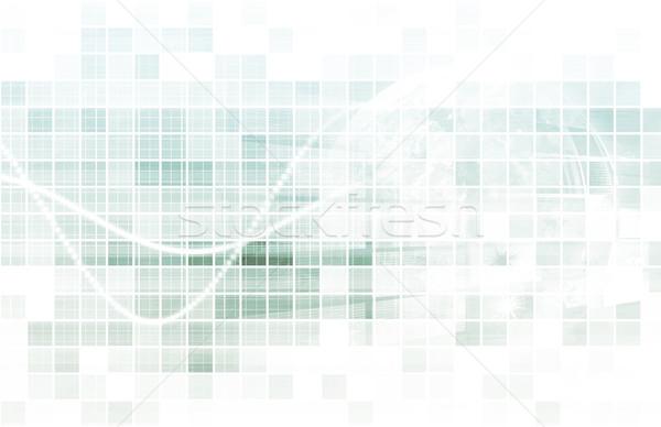 Données minière technologie stratégie bureau argent Photo stock © kentoh