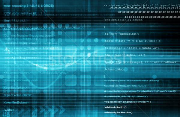 Technológia analitika virtuális adat vezetőség művészet Stock fotó © kentoh