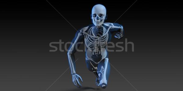 Scannen botten lichaam gezondheid ziekenhuis Stockfoto © kentoh