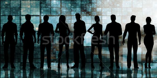 Futuristische technologie team kantoor software digitale Stockfoto © kentoh