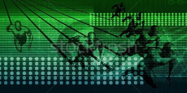 à grande vitesse connexion internet connectivité technologie fond Photo stock © kentoh