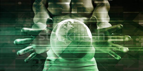 Toegang controle veiligheid globale Stockfoto © kentoh