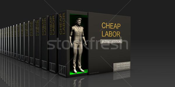 Cheap Labor Stock photo © kentoh