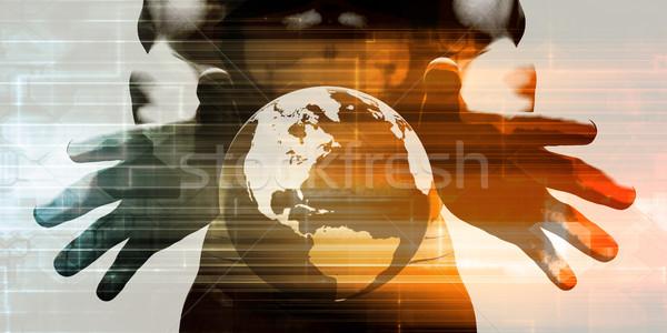 глобальный международных мобильность программное сеть Сток-фото © kentoh