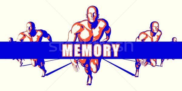 Speicher Wettbewerb Illustration Kunst Hintergrund orange Stock foto © kentoh