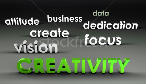 Creativiteit 3D presentatie business achtergrond corporate Stockfoto © kentoh
