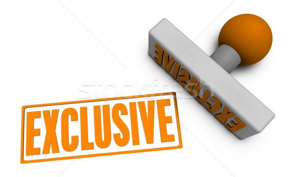 Exclusif tampon papier 3D concept Photo stock © kentoh
