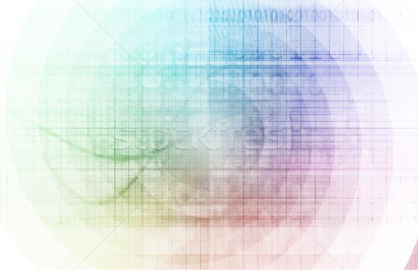 High-Speed- Internet schnell bewegen Daten info Stock foto © kentoh