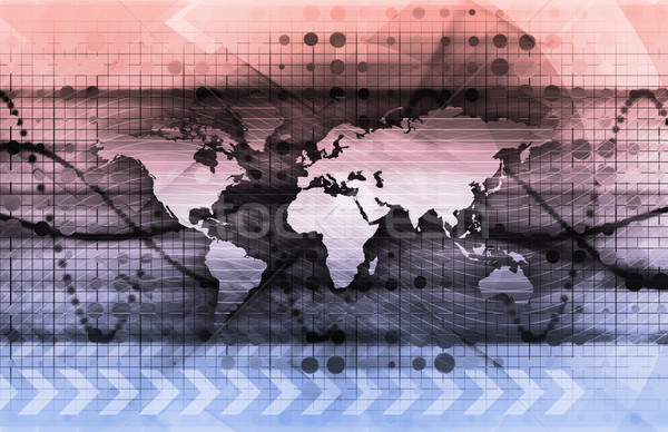 Digitale oplossingen corporate business kunst internet Stockfoto © kentoh