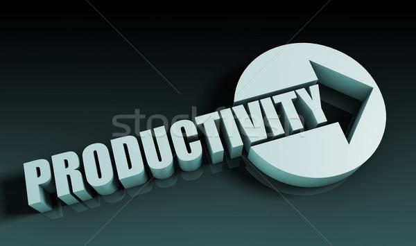 производительность стрелка бизнеса ключевые диаграммы презентация Сток-фото © kentoh
