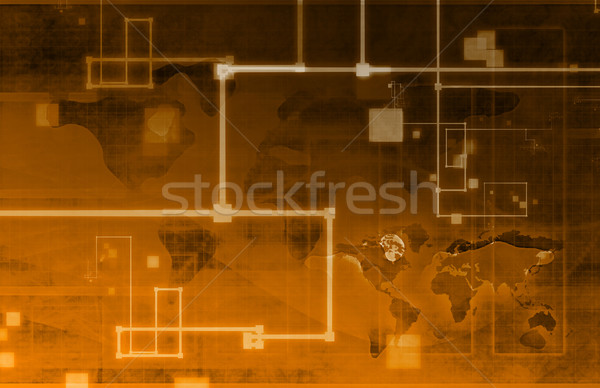 Business Analysis Network Stock photo © kentoh
