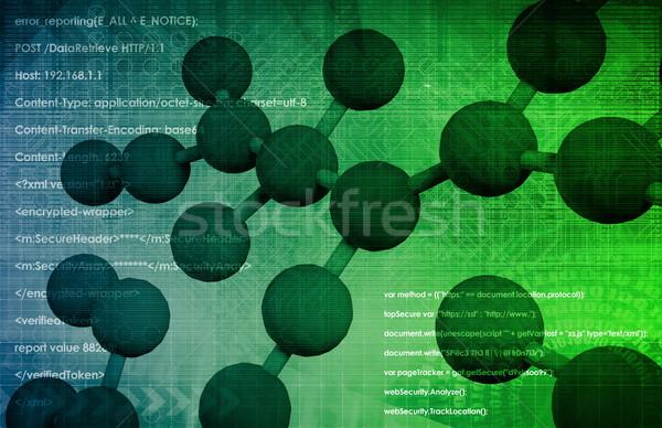 Moleculair biologie digitale wetenschap industrie chemie Stockfoto © kentoh