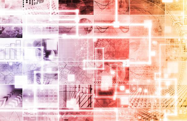 Bezpieczeństwa groźba sieci ruchu danych komputera Zdjęcia stock © kentoh