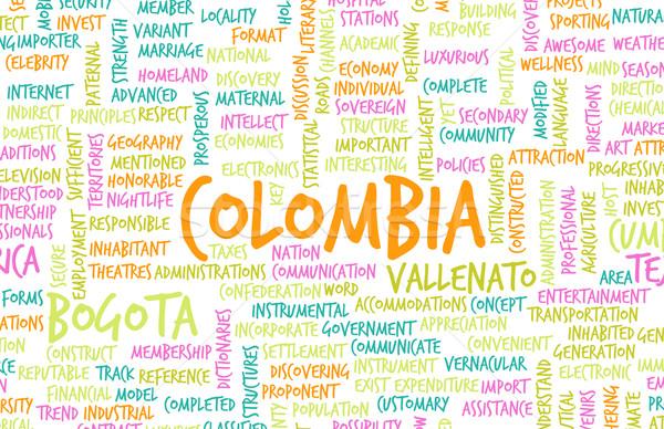 Colombia vidék absztrakt művészet üzlet étel Stock fotó © kentoh