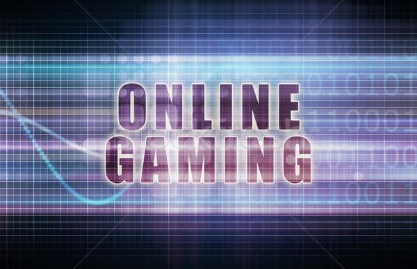 Online számítógépes játékok tech üzlet diagram művészet Stock fotó © kentoh