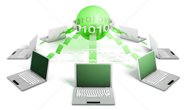 Internet global computador mundo fundo monitor Foto stock © kentoh