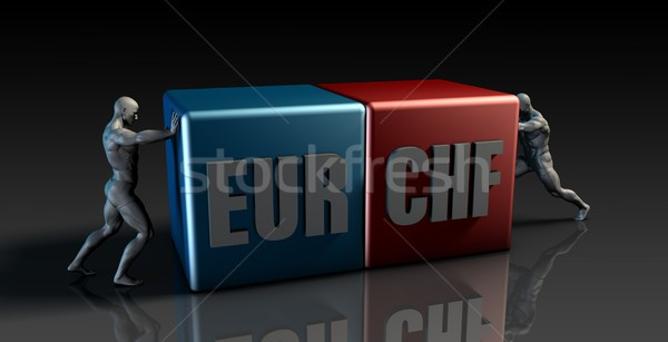 EUR CHF Currency Pair Stock photo © kentoh