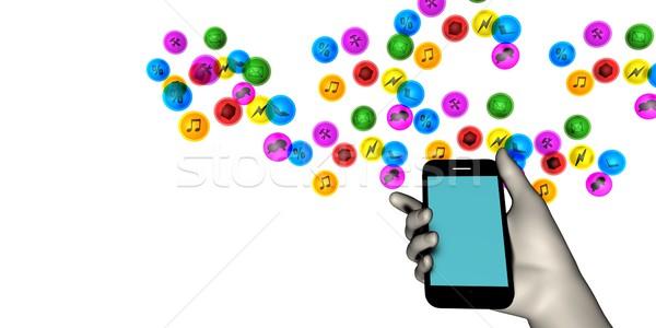 Hand Holding Smartphone Stock photo © kentoh