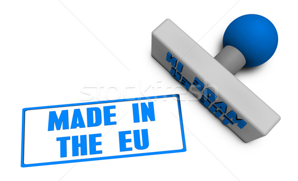 Stock fotó: EU · bélyeg · kotlett · papír · 3D · gyümölcsök