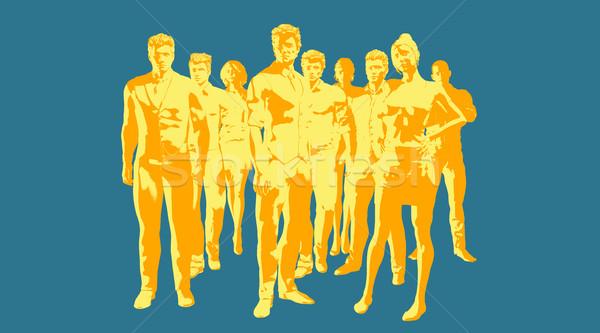 Ausbildung Entwicklung modernen gebildet Belegschaft Corporate Stock foto © kentoh