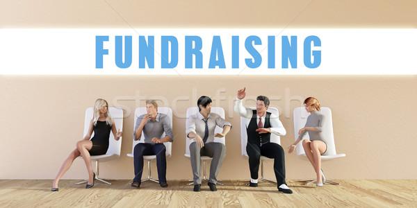 Negocios recaudación de fondos grupo reunión hombre fondo Foto stock © kentoh