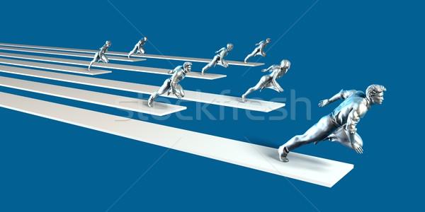 Empowered Team Stock photo © kentoh