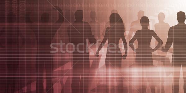 Toborzás ügynökség folyamat kéz háttér szolgáltatás Stock fotó © kentoh