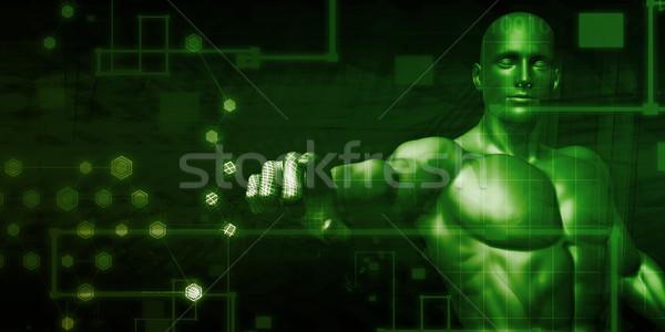 Wolke Sicherheit Netzwerk Entdeckung Software Web Stock foto © kentoh