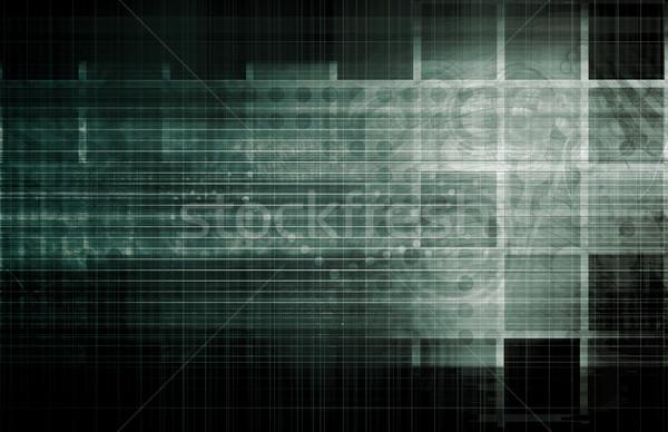Informação análise processo negócio abstrato teia Foto stock © kentoh