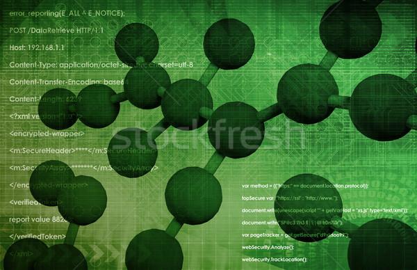 Genom genetikai anyag organizmus térkép háttér Stock fotó © kentoh