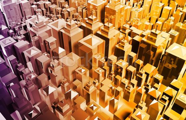 Тенденции диаграммы графа бизнеса время Сток-фото © kentoh
