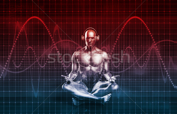 Сток-фото: музыку · опыт · звук · эквалайзер · интернет · фон