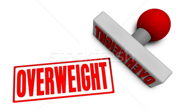 Overweight Stamp Stock photo © kentoh