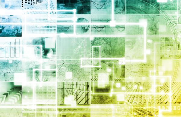 Zaawansowany technologii przemysłowych produkcji streszczenie przemysłu Zdjęcia stock © kentoh