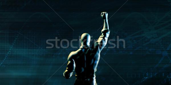 Akadályok férfi siker üzlet üzletember ipar Stock fotó © kentoh