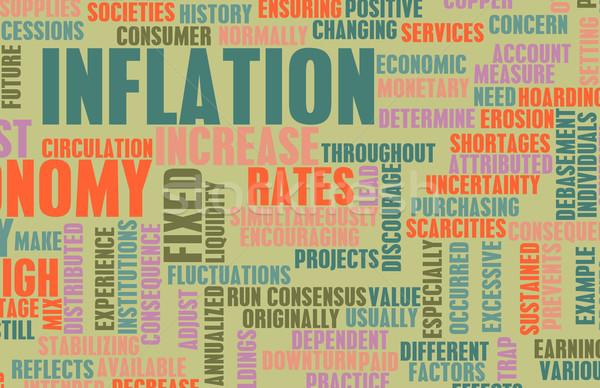 инфляция экономический проблема Правительство бизнеса Финансы Сток-фото © kentoh