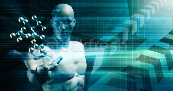 Creativiteit business innovatie ontwerp technologie poster Stockfoto © kentoh