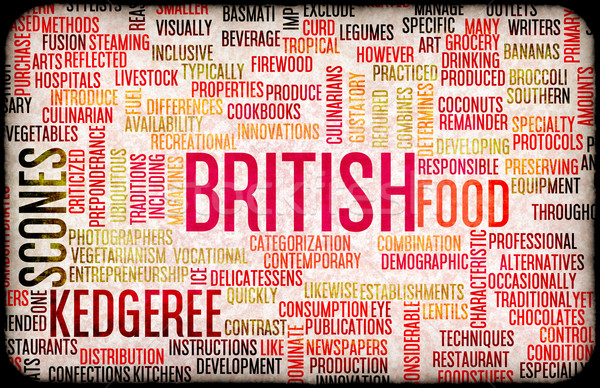 British Food Menu Stock photo © kentoh