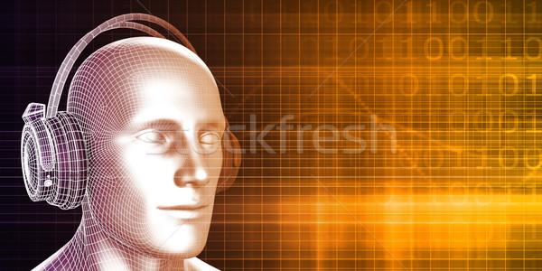 рекреационной деятельности музыку технологий фон оратора Сток-фото © kentoh