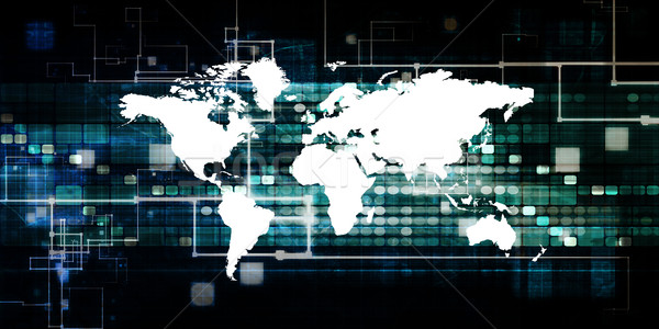 Business internazionale tecnologia industria sfondo società Foto d'archivio © kentoh