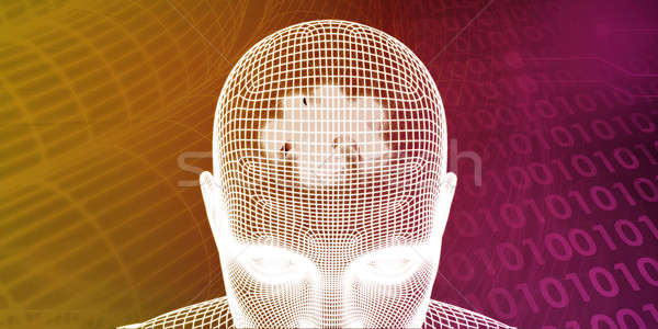 Beyin işlemci insan akla bellek soyut Stok fotoğraf © kentoh