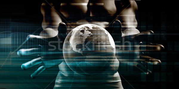 Foto stock: Manos · mundo · negocios · tecnología · mundo · fondo