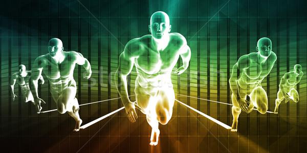 гонка служба технологий фон команда корпоративного Сток-фото © kentoh