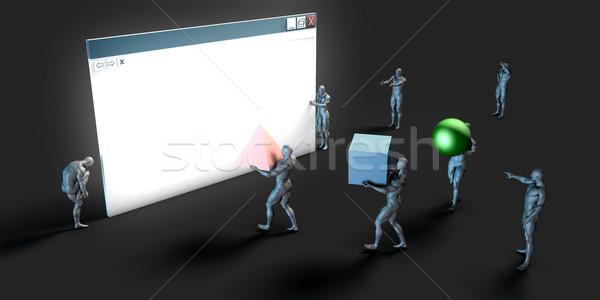 Ecommerce solutions ligne navigateur Shopping art Photo stock © kentoh