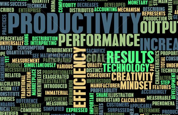 Produktivitás üzlet iroda művészet csapat vállalati Stock fotó © kentoh