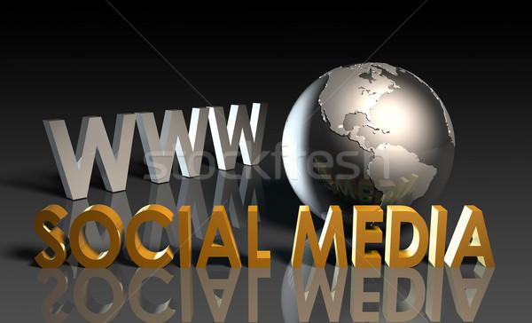 ソーシャルメディア を コンテンツ ウェブ ビジネス インターネット ストックフォト © kentoh